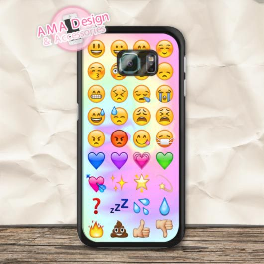 Güzel Birçok Emoji Samsung Galaxy S8 S7 S6 Kenar Faces artı S5 aktif S4 mini Ace Win S3 Core Not 4 3