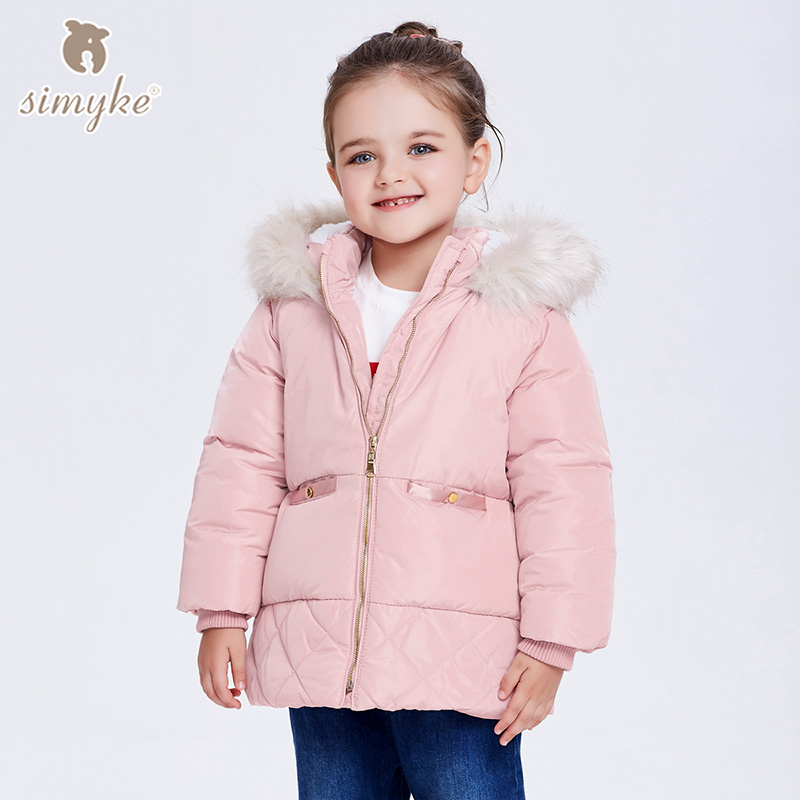 Simyke Girls Winter Coats 2017New Children&39;s Warm Outwear Kids Fleece Jackets for Toddler Girl Parks Child Brand Clothing G3810