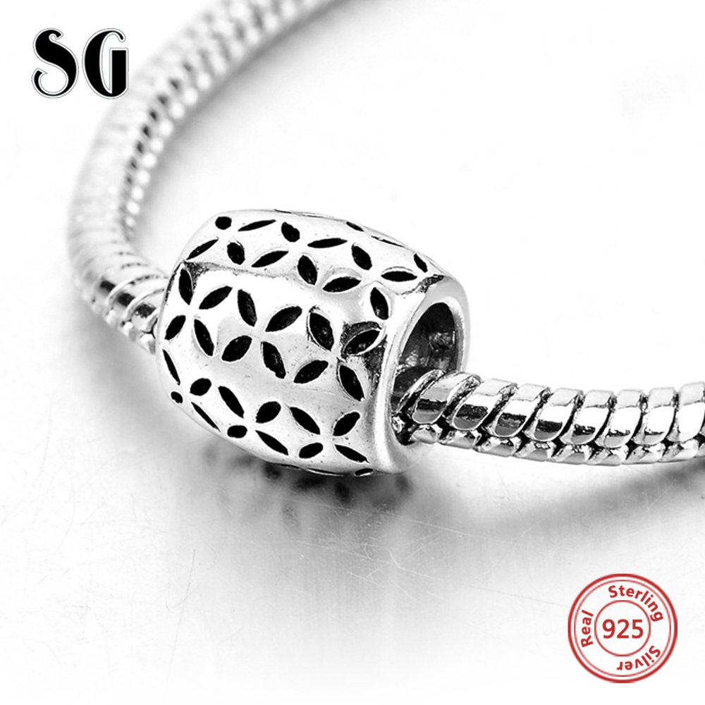 Hot Selling Star Leaves Pattern Beads for Women Fashion Fit Genuine Pandora Lovely Jewelry 925 Sterling Silver DIY Bead Charming