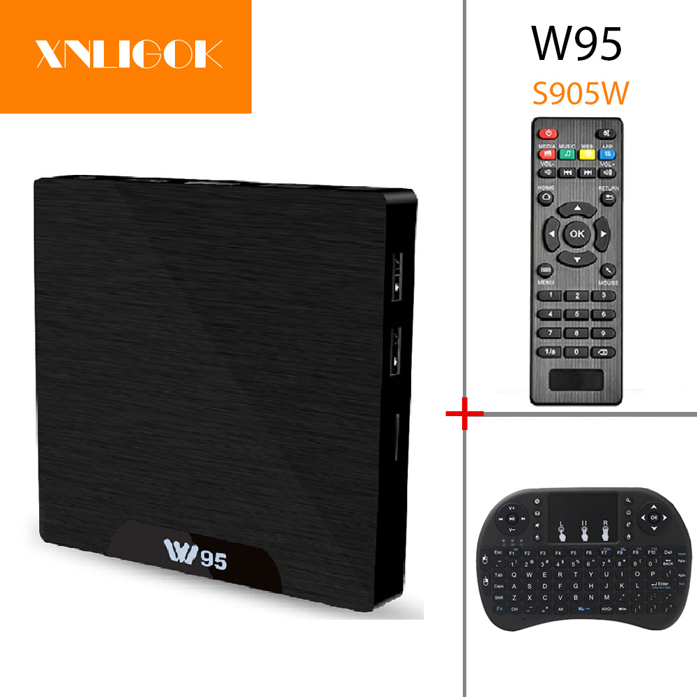 S905W W95 TV Kutusu Android 7.1 Amlogic Quad Core Cortex-A53 1G/8G 2G/8G 3D Media Player 2.4G WiFi H.265 4 K Set-üst kutu