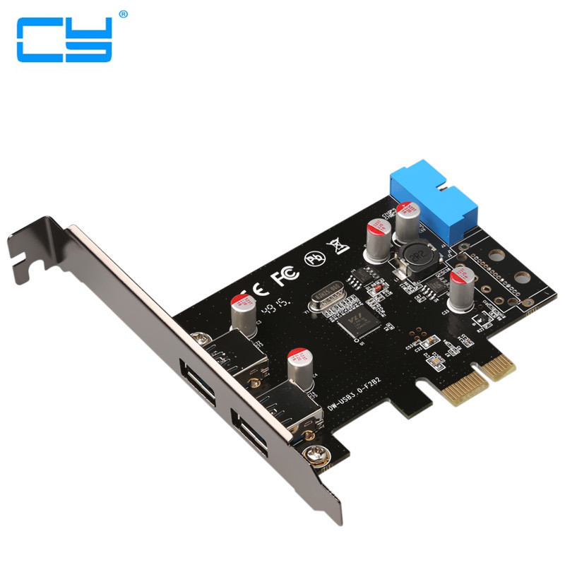 2-Port SuperSpeed USB 3.0 PCI-E PCI Express 19-pin USB3.0 pcie Anakart 20 P Conector de 20 pinos