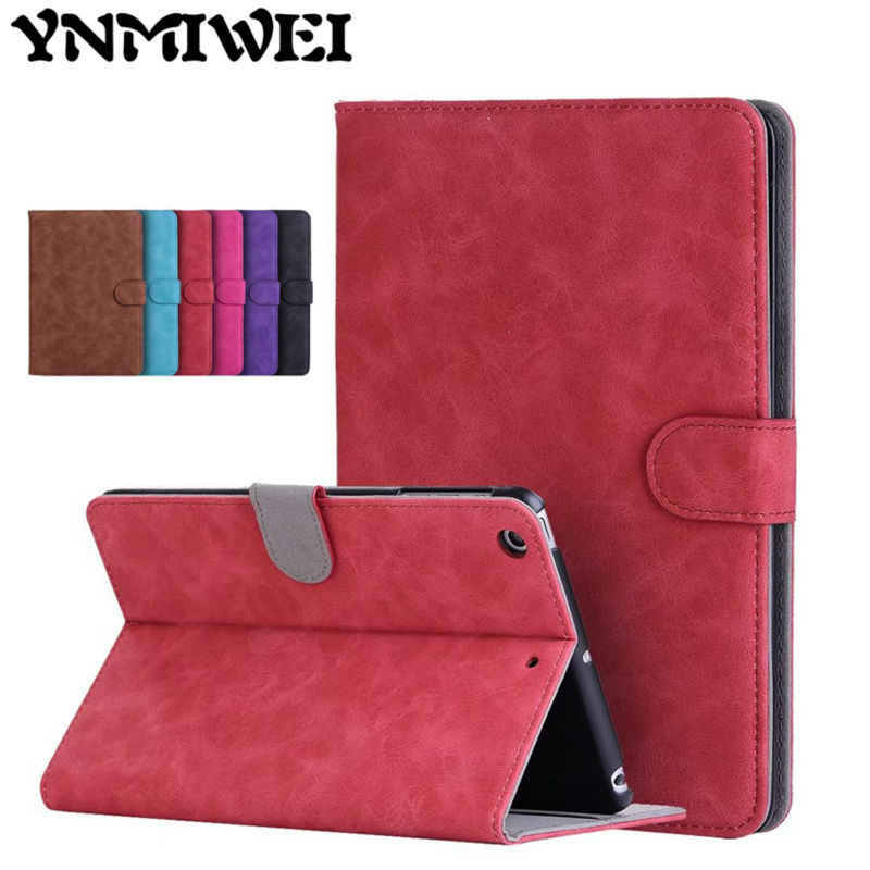 Ipad mini 1 2 3 için pu deri case slim darbeye retro apple ipad mini2 mini3 7.9 &39;&39;protective fundas için cases standı kapak
