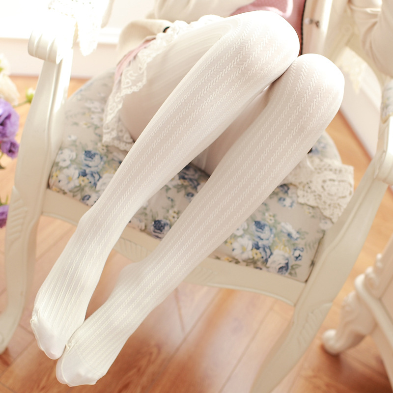 The Japanese even thin leg and velvet pantyhose linen thread pattern Leggings