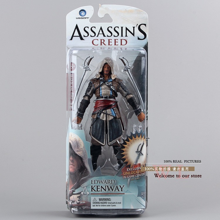 Ücretsiz Kargo Assassins Creed 4: Black Flag 14 cm Edward Kenway PVC Action Figure Oyuncak Boys Hediyeler